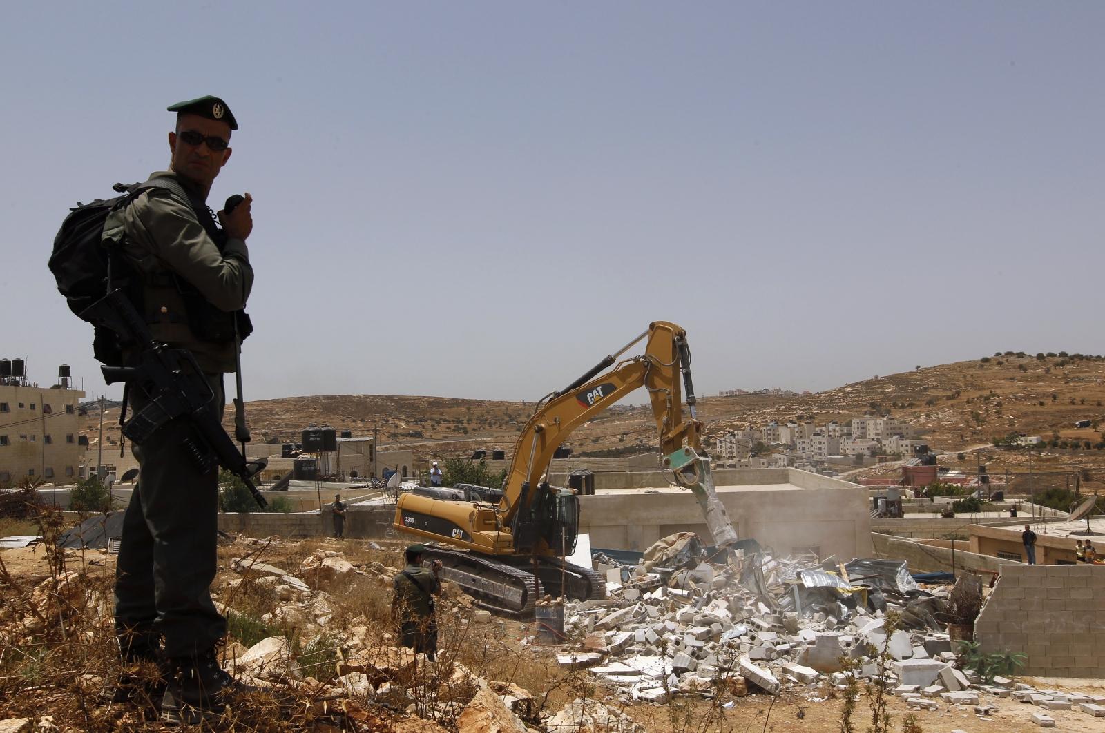 Kudüs'te yıkılan evler.