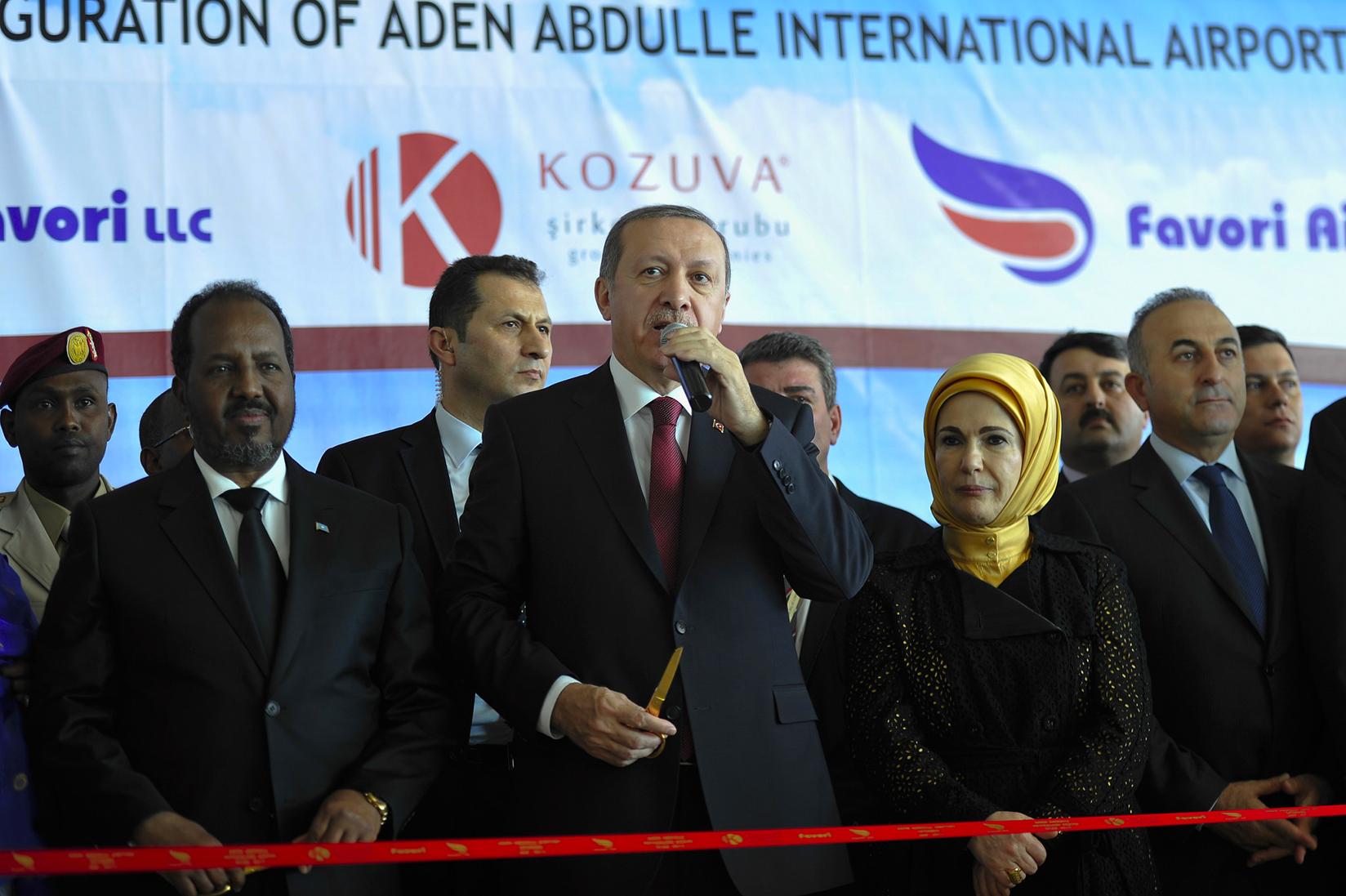 Erdoğan Mogadişu'da Aden Abdulle Uluslararası Havaalanı'nın Yeni Terminalinin Açılışında